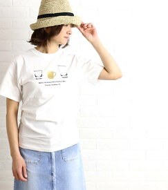 Veritecoeur(ヴェリテクール)COPAINS コットン 半袖 Tシャツ TAG Tee・COC-014-2421601【メール便可能商品】[M便 5/5]【レディース】
