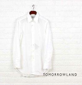TOMORROWLAND(トゥモローランド)コットンブロード 長袖 レギュラーカラー ドレスシャツ・61-01-44-01102-0171602【メンズ】