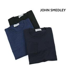 JOHN SMEDLEY(ジョンスメドレー)メリノウール メンズ クルーネック 長袖 ニット プルオーバー・SICILY-2851902【メンズ】