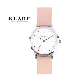 KLARF(クラーフ)レザーベルト ラウンドフェイス 腕時計 レディースウォッチ 38mm・K-1506-3731802【レディース】【1F-W】