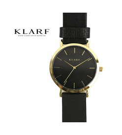 KLARF(クラーフ)レザーベルト ラウンドフェイス 腕時計 レディースウォッチ 38mm・K-1509-3731802【レディース】【1F-W】