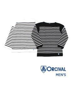 ORCIVAL(オーチバル・オーシバル)コットンラッセル パネルボーダー ボートネック メンズ カットソー プルオーバー・6101-0321902【メンズ】【JP】【■■】