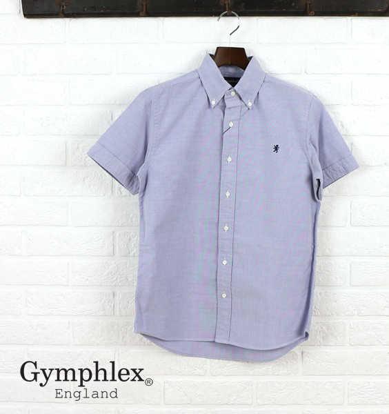 【ジムフレックス Gymphlex】コットン オックスフォード 半袖 ボタンダウンシャツ・J-0937YOX-0321801【メンズ】【JP】