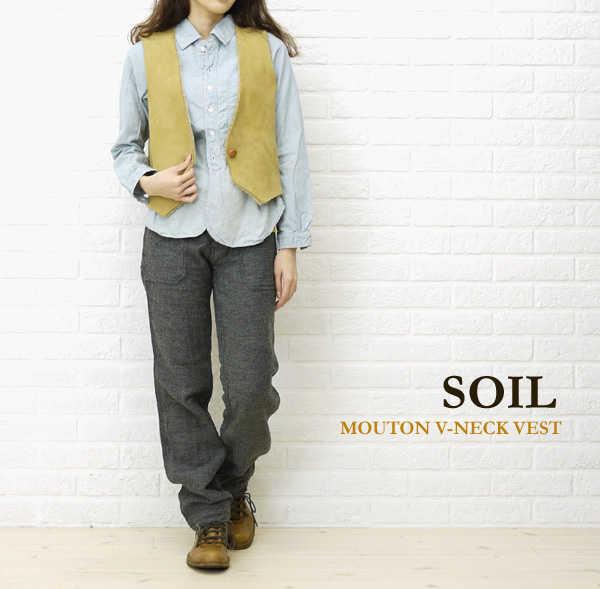 【ソイル SOIL】MOUTON V-NECK VEST・GNSL2152-0341102【レディース】【RCP】【トップス】【last_1】