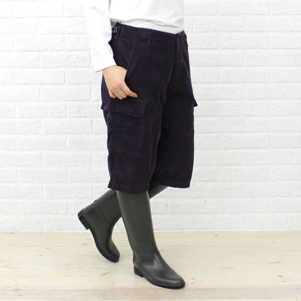 【ミューザ miusa】CORDUROY SHORT LENGTH PANTS WITH 6 POCKETS・NMSU0873D【レディース】【RCP】【ボトムス】