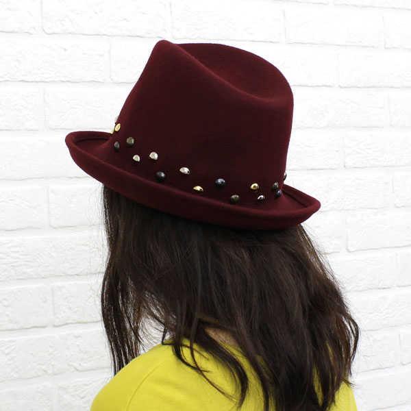 【ベネッリ BENELLI】フェルト 鋲付き ハット・5131-0241302【レディース】【RCP】【帽子】【50】