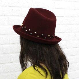 【ベネッリ BENELLI】フェルト 鋲付き ハット・5131-0241302【レディース】【RCP】【帽子】