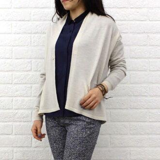 14G羊毛絲綢長袖子布料立體皺紋彩色對襟毛衣、NLK4101012-0091401