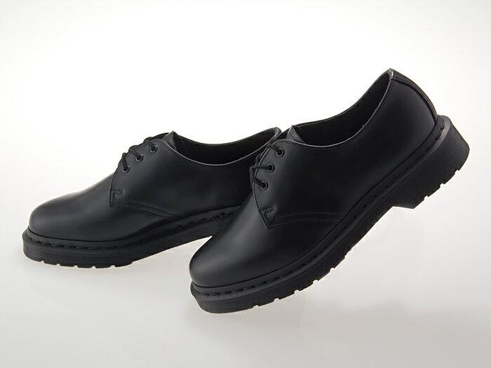 [ドクターマーチン] Dr.Martens 1461 MONO 3EYE GIBSON SHOES 3ホール ギブソン BLACK ブラック 黒 メンズ・レディースサイズ #14345001