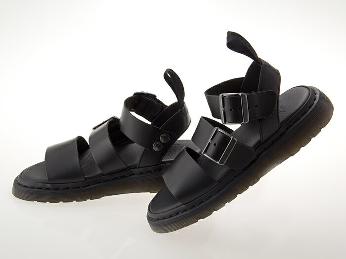 [ドクターマーチン] Dr.Martens GRYPHON STRAP SANDAL グリフォン ストラップ サンダル グラディエーター メンズ・レディースサイズ BLACK ブラック 黒 #15695001