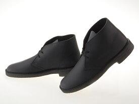 クラークス CLARKS DESERT BOOTS デザートブーツ BLACK SMOOTH LEATHER ブラック スムースレザー 黒 #26103683