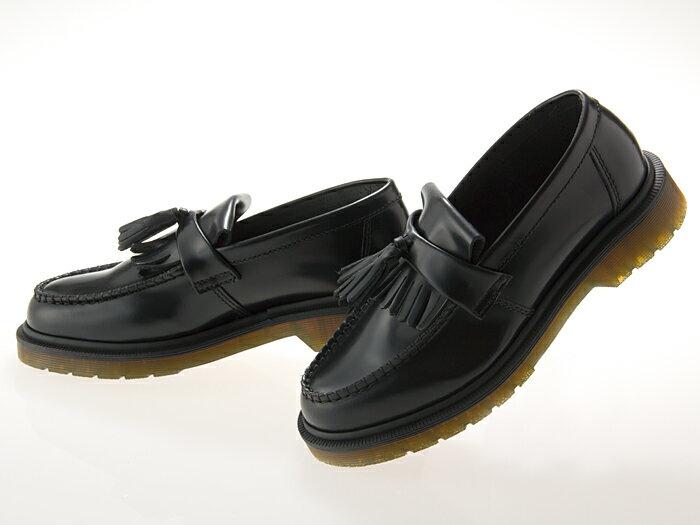 ドクターマーチン Dr.Martens ADRIAN TASSEL LOAFER エイドリアン タッセル ローファー BLACK POLISHED SMOOTH ブラック 黒 ポリッシュドスムースレザー メンズ・レディースサイズ #24369001