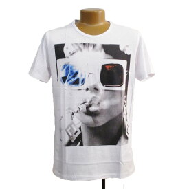 *[NO COMMENT PARIS]* MEN'S T-SHIRT ノーコメントパリ メンズ T シャツ- Blue red glasses -