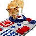 ペットおもちゃ 訓練毛布 犬 猫 ペットノーズワーク マット訓練マット 餌マット しつけ用品 知育玩具 嗅覚訓練 犬噛む…