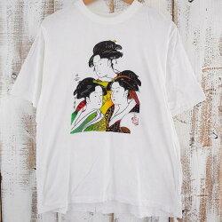 90's浮世絵Tシャツ90年代日本画和風【古着】【ヴィンテージ】【中古】【メンズ店】