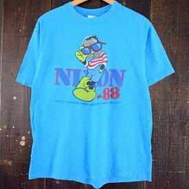 "80's ""NIXON in 88"" USA製 キャラクターパロディTシャツ 80年代 ニクソン ミッキー ディズニー アメリカ製 【古着】 【ヴィンテージ】 【中古】 【メンズ】"