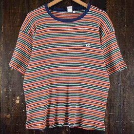 HANG TEN マルチボーダー柄Tシャツ ハンテン 【古着】 【ヴィンテージ】 【中古】 【メンズ】