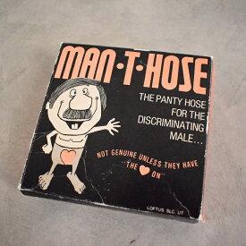 """MAN・T・HOSE"" mens pantyhose Gag Gift ギャグギフト メンズパンスト シュール ジョーク パーティグッズ エロ 【古着】 【ヴィンテージ】 【中古】 【メンズ店】"