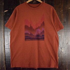 Patagonia 山プリントTシャツ XL パタゴニア ロゴT アウトドア 山脈 赤 えんじ 【古着】 【ヴィンテージ】 【中古】 【メンズ店】