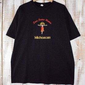 Michoacan キリスト刺繍Tシャツ XL メキシコ キリスト教 十字架 【古着】 【ヴィンテージ】 【中古】 【メンズ店】