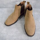 Hush Puppies サイドゴアスエードブーツ 27.5cm ハッシュパピー 革靴 レザーシューズ レザーブーツ ショートブーツ ベージュ 【古着】 【ヴィンテージ】 【中古】 【メンズ店】