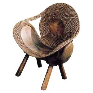 ラタンウッドチェア 70048(室内用)ジャービス商事[F-721] 【送料無料】 ガーデンテーブル ガーデンチェア ガーデンファニチャー