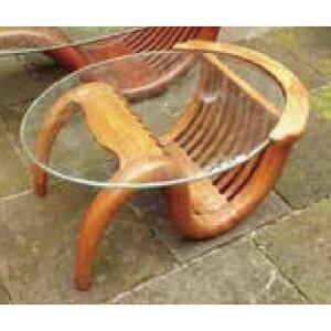 ミニチークガラステーブル(塗装) 36322(室内用)ジャービス商事[F-749] 【送料無料】 ガーデンテーブル ガーデンチェア ガーデンファニチャー