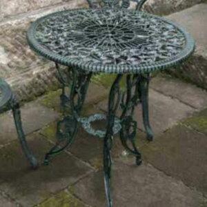 アルミ鋳物テーブル(中)13044 ジャービス商事[F-623] 【送料無料】 ガーデンテーブル ガーデンチェア ガーデンファニチャー