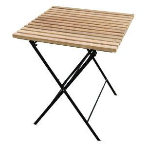 折り畳みアイアンチークテーブル 34219 ジャービス商事[F-636] 【送料無料】 ガーデンテーブル ガーデンチェア ガーデンファニチャー