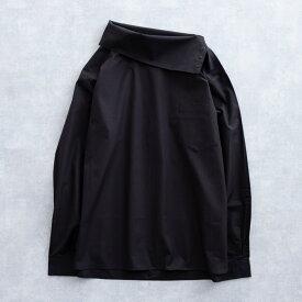 【SALE 50%OFF】 DISCOVERED TURTLE SHIRT (2色 BLACK/A.GRAY) DC-PF16-PO-04 ディスカバード タートルシャツ タートルネック シャツ スナップ メンズ 送料無料