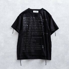【SALE 30%OFF】 DISCOVERED PUT ON TEE SHIRT (2色 BLACK/WHITE) DC-SS19-CU-09 ディスカバード プットオン リメイク感 縫い付け プリントT Tシャツ メンズ 送料無料