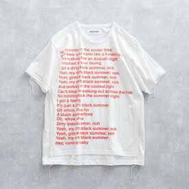 【SALE 30%OFF】 DISCOVERED PUT ON TEE SHIRT (2色 WHITE/BLACK) DC-SS19-CU-09 ディスカバード プットオン リメイク感 縫い付け プリントT Tシャツ メンズ 送料無料