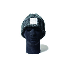 MofM (man of moods) CABLE-KNIT BEANIE (2色 GRAY/BLACK) MM3910-AC10 manofmoods マンオブムーズ ケーブルニット ビーニー マイクロフリース ニット帽 帽子 日本製 メンズ 送料無料