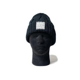 MofM (man of moods) CABLE-KNIT BEANIE (2色 BLACK/GRAY) MM3910-AC10 manofmoods マンオブムーズ ケーブルニット ビーニー マイクロフリース ニット帽 帽子 日本製 メンズ 送料無料