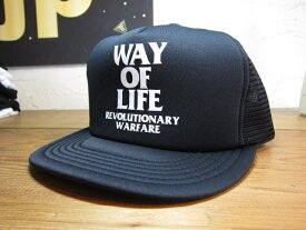 ★送料無料★RATS/WAY OF LIFE MESH CAP BLACK