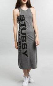 【新品】USA企画 レディース STUSSY MAXI DRESS/ステューシー タイト タンクトップ ワンピース グレー【サイズ:レディース XS.S.M】【古着屋mellow楽天市場店】