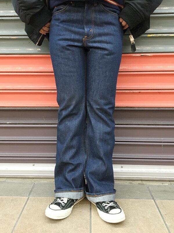DEAD STOCK VINTAGE 70s LEVIS #517/1970年代製 デッドストック ビンテージ リーバイス #517 ブーツカット インディゴブルー【size:W29L29】【レディース】【フラッシャー付き】【デニム ジーンズ】【アメリカ製】【古着 mellow楽天市場店】