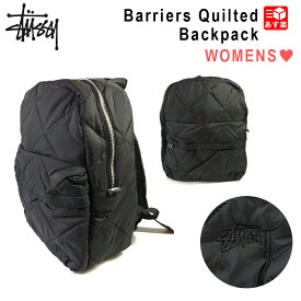 ★SALE★【NEW】レディース ステューシー ロゴ刺繍 ナイロン キルティング バックパック リュック バッグ ブラック 黒 STUSSY Barriers Quilted Backpack Black 233010 【新品】 新品 mellow 【smtb-m】【古着屋mellow楽天市場店】