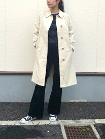 バーバリー/Burberry's ステンカラー コート サイズ:Lady's M〜L位 オフホワイト MADE IN ENGLAND【古着】 古着 【中古】 中古 mellow 【あす楽対応】【古着屋mellow楽天市場店】