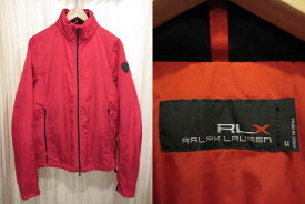 【新品・サンプル品】Ralph Lauren RLX ラルフローレン フード内蔵型 中綿ウインドブレーカー 赤 表記(M)【古着屋mellow楽天市場店】【ゴルフ】
