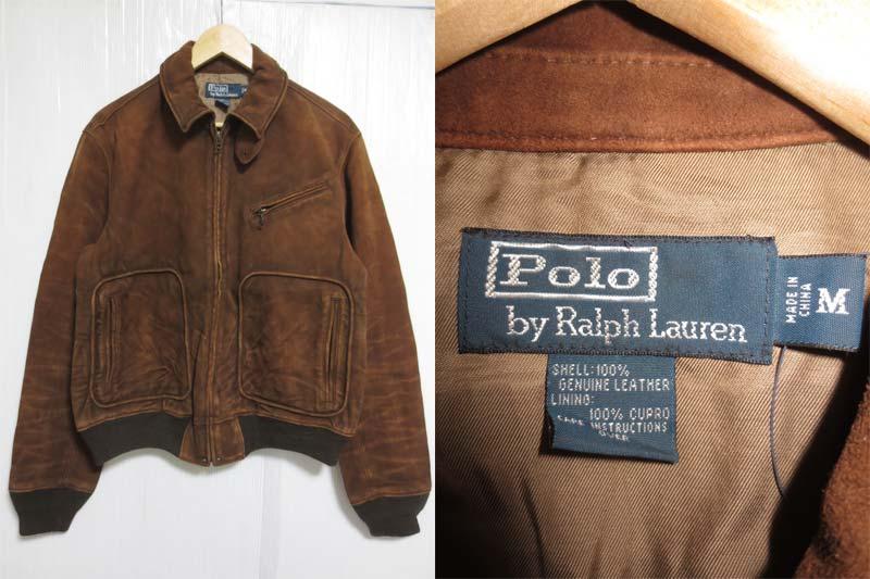 【サンプル品】POLO Ralph Lauren Wilstead Suede Newsboy jacket ラルフローレン スエードレザージャケット 表記(M)【中古】【古着 mellow楽天市場店】