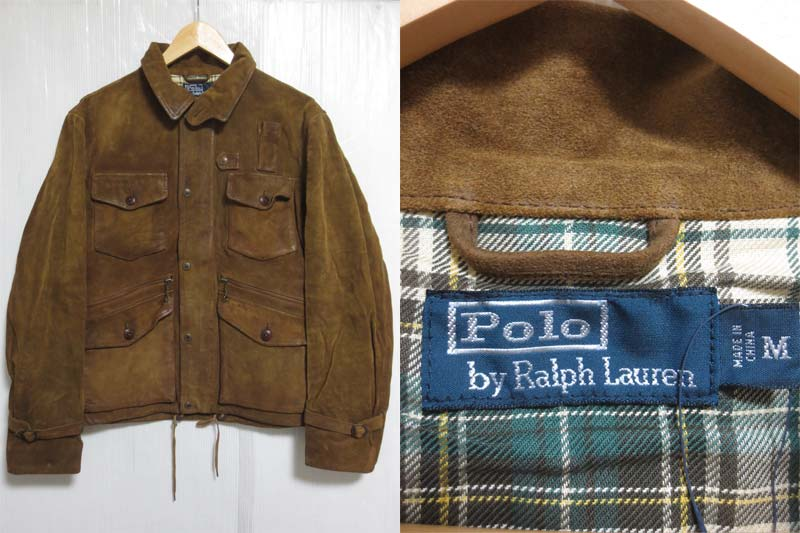 【サンプル品】POLO Ralph Lauren Rockmount Leather Jacket ラルフローレン スエードレザーハンティングジャケット 表記(M)【中古】【古着 mellow楽天市場店】