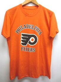 """【中古】CCM NHL """"Philadelphia Flyers""""/フィラデルフィア・フライヤーズ 半袖 Tシャツ オレンジ×白 【サイズ:Men's S位】【アイスホッケー】【あす楽対応】【古着屋mellow楽天市場店】"""