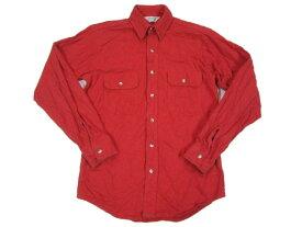 【中古】FIVE BROTHER/ファイブブラザー CHAMOIS CLOTH シャモアクロス コットンシャツ 長袖 レッド Made in U.S.A【サイズ:S】【あす楽対応】【古着屋mellow楽天市場店】