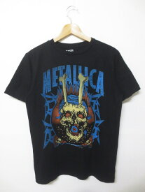 メタリカ/Metallica スカルプリント Tシャツ 半袖 サイズ:Boy's XL ブラック 【バンT】【レディース】【古着】 古着 【中古】 中古 mellow 【あす楽対応】【古着屋mellow楽天市場店】
