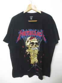 メタリカ/Metallica スカルプリント Tシャツ 半袖 サイズ:XL ブラック 【バンT】【古着】 古着 【中古】 中古 mellow 【あす楽対応】【古着屋mellow楽天市場店】