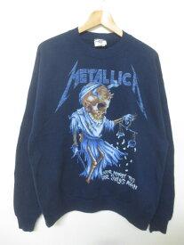 メタリカ/Metallica プリント スウェットシャツ 長袖 サイズ:L ネイビー【古着】 古着 【中古】 中古 mellow【あす楽対応】【古着屋mellow楽天市場店】