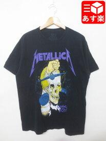 メタリカ/Metallica スカルプリント バンド Tシャツ 半袖 サイズ:L ブラック 【古着】 古着 【中古】 中古 mellow【あす楽対応】【古着屋mellow楽天市場店】