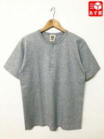 グッドウェア/Goodwear ヘンリーネック Tシャツ 半袖 サイズ:M, L ヘザーグレー Made in U.S.A【新品】 新品 mellow 【あす楽対応】【古着屋mellow楽天市場店】