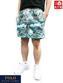 ポロ ラルフローレン/POLO RALPH LAUREN スイム ショートパンツ ボードショーツ ハワイアンプリント 総柄 サイズ:L, XL エメラルドグリーン【新品】 新品 mellow 【あす楽対応】【古着屋mellow楽天市場店】
